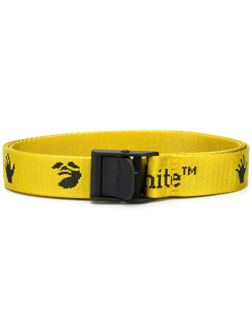 OFF-WHITE NEW LOGO MINI INDUSTRIAL BELT YELLOW BLA