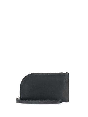 RICK OWENS curved edge embossed logo wallet