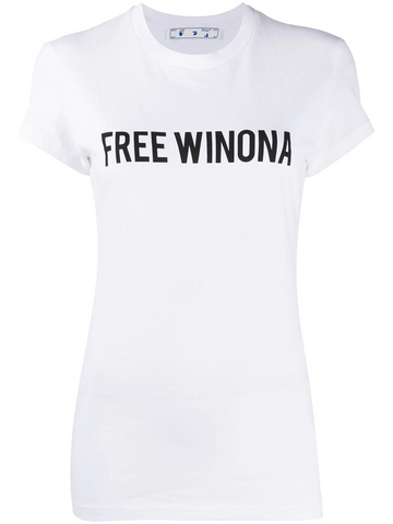 OFF-WHITE WINONA FITTED TEE WHITE BLACK