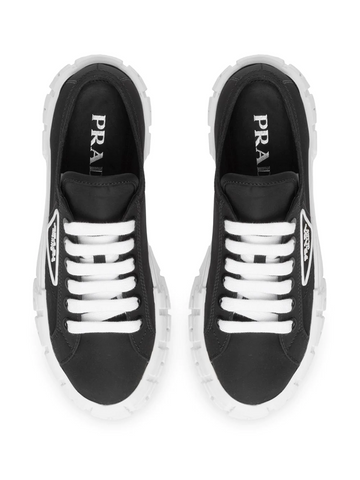 PRADA triangular logo plaque sneakers