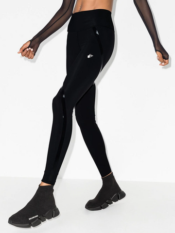 OFF-WHITE logo-print performance leggings