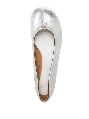MAISON MARGIELA metallic tabi ballet shoes
