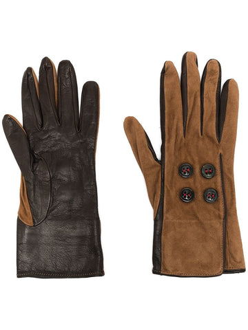DSQUARED2 buttoned two-tone gloves