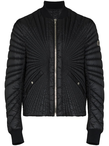 RICK OWENS by MONCLER zip-up short padded jacket