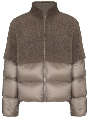 RICK OWENS by MONCLER Coyote padded down jacket
