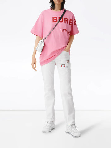 BURBERRY Horseferry print oversized T-shirt