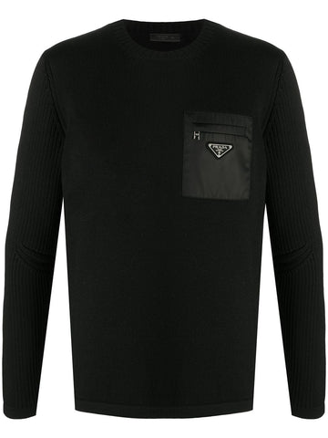 PRADA logo plaque jumper