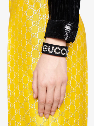 GUCCI crystal detailed cuff bracelet