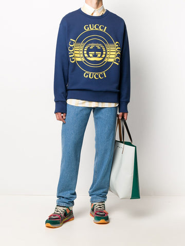 GUCCI Interlocking G logo print sweatshirt