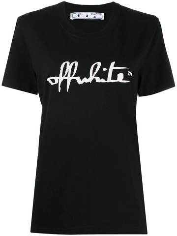 OFF-WHITE logo-print cotton T-shirt