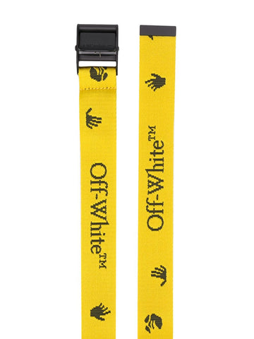 OFF-WHITE logo-print buckle belt