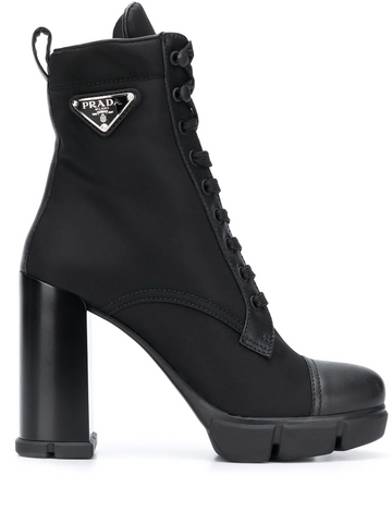 PRADA lace-up high heel boots