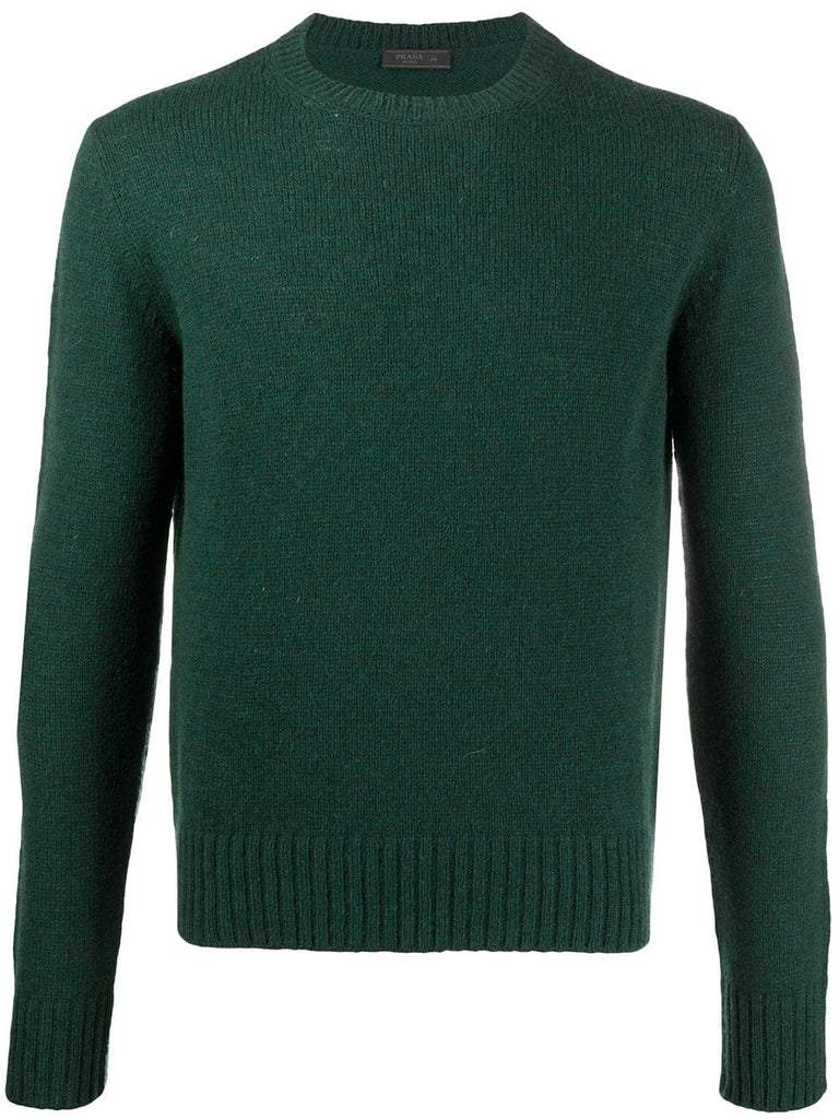 PRADA knitted crew neck jumper