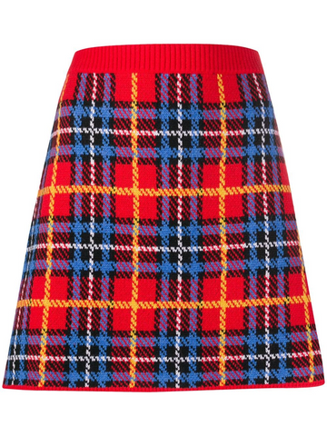 MIU MIU check knitted a-line skirt