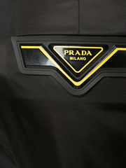 PRADA logo patch tailored trousers