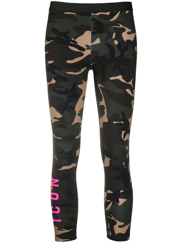 DSQUARED2 camouflage-print leggings
