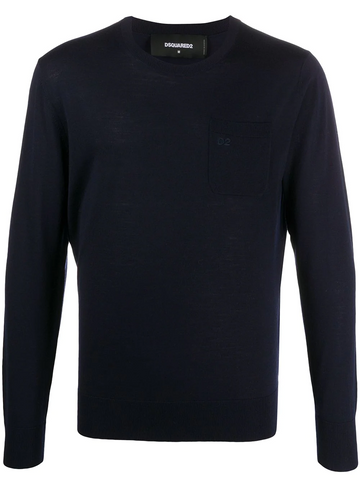 DSQUARED2 logo-embroidered crew-neck jumper