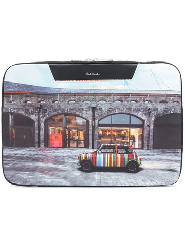 PAUL SMITH storefront-print laptop case