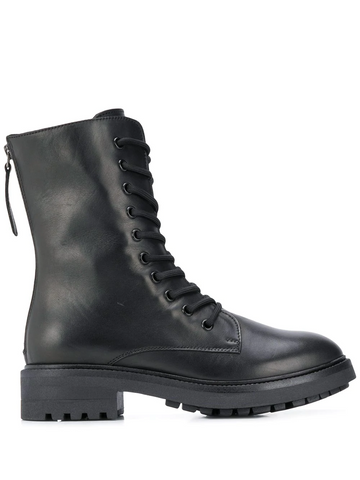 PAROSH lace-up zipped ankle boots
