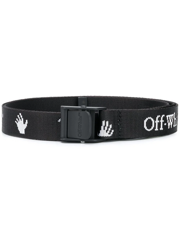 OFF-WHITE logo-pattern belt