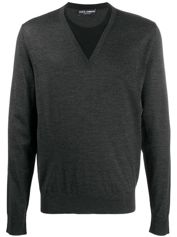 DOLCE & GABBANA v-neck fine knit sweater