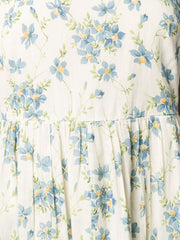 THE GREAT Linden floral-print dress