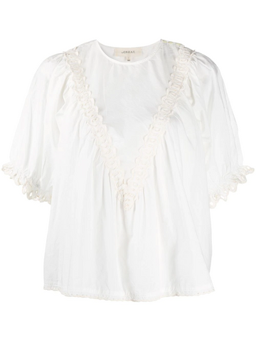 THE GREAT Sparrow embroidered blouse