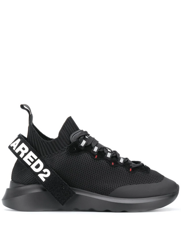 DSQAURED2 logo strap high-top sneakers