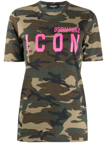 DSQUARED2 Icon camouflage T-shirt