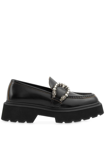 GUCCI crystal-embellished chunky loafers