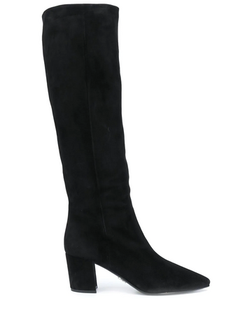 PRADA pointed toe knee-high boots