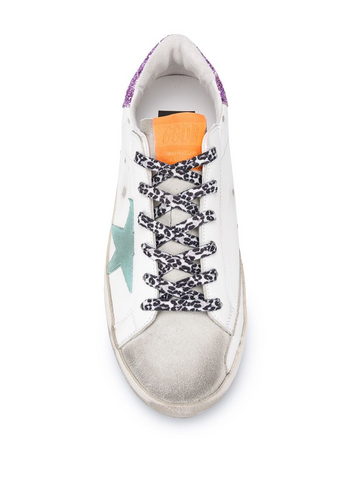 GOLDEN GOOSE Superstar distressed low-top trainers