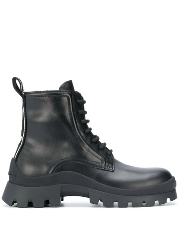 DSQUARED2 leather ankle lace-up boots