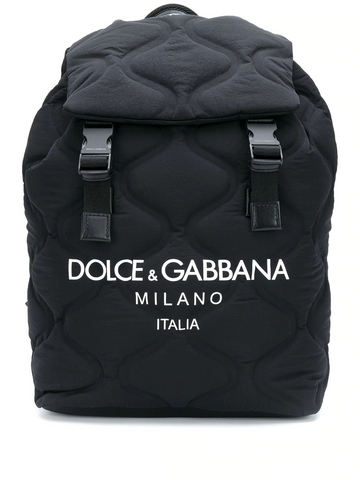 DOLCE&GABBANA wave-quilted backpack