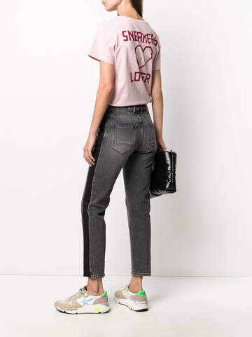 GOLDEN GOOSE contrast stripe cropped jeans
