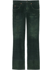 GUCCI washed-effect corduroy wide-leg trousers