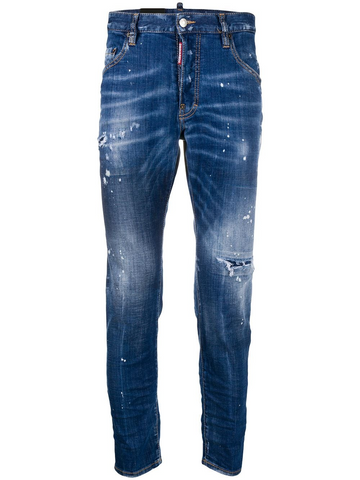 DSQUARED2 embroidered distressed skinny jeans