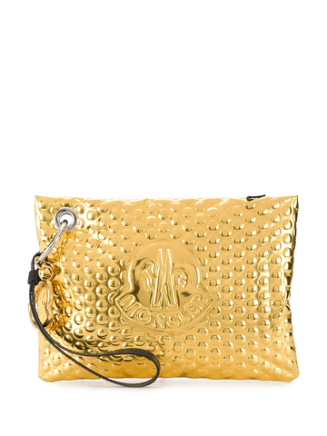 MONCLER logo embossed clutch
