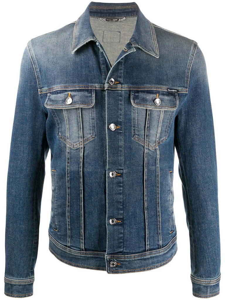 DOLCE&GABBANA faded denim jacket