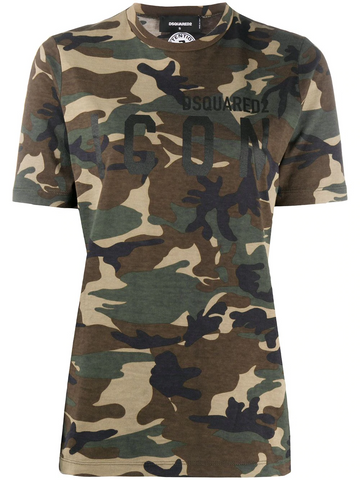 DSQUARED2 Icon camouflage-print T-shirt