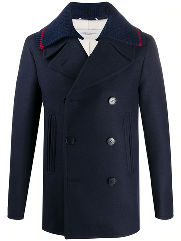 GOLDEN GOOSE double-breasted peacoat