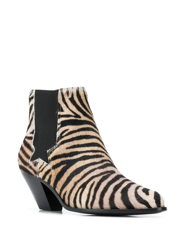 GOLDEN GOOSE tiger print ankle boots