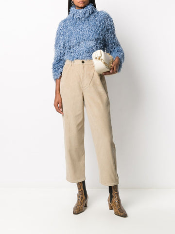 L'AUTRE CHOSE corduroy cotton cropped trousers