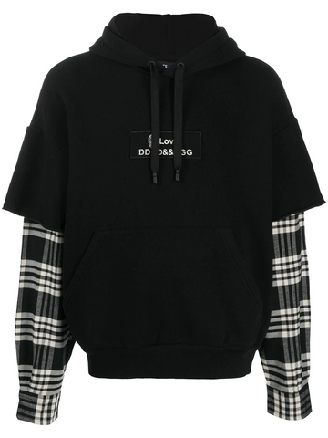 DOLCE & GABBANA layered-effect hoodie