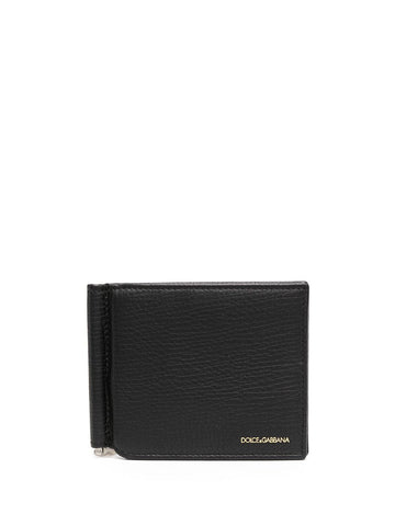 DOLCE&GABBANA money-clip leather wallet