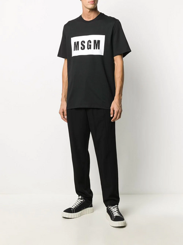 MSGM logo-print cotton T-shirt