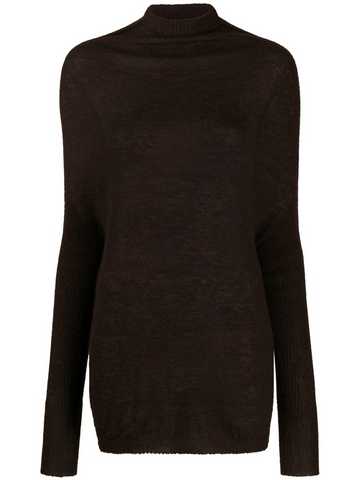 RICK OWENS high-neck fine knit jumper