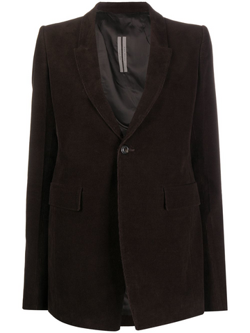 RICK OWENS corduroy single-breasted blazer