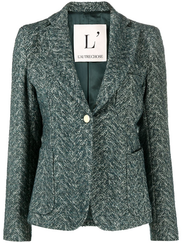L'AUTRE CHOSE geometric pattern fitted jacket
