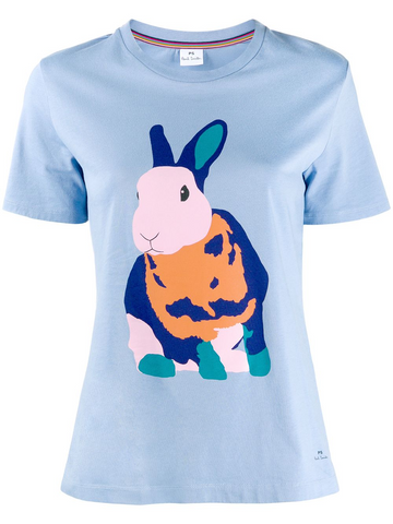 PAUL SMITH rabbit print T-shirt